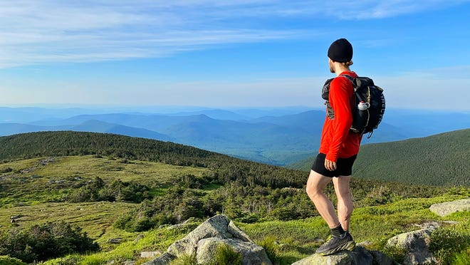 Worcester native Philip Carcia looks for where this White Mountain trail will take him next.