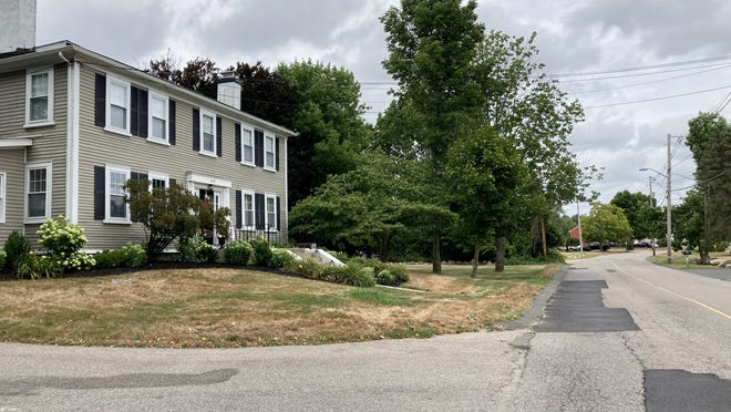 Police recovered shell casings in front of 308 Linwood St. in Abington following a shots-fired incident, Tuesday, Aug. 4, 2020.