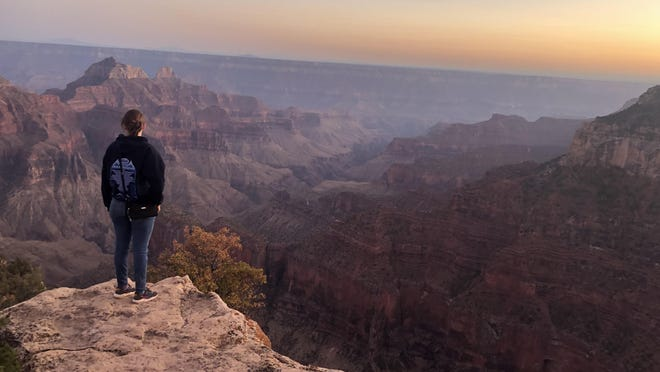 The views at the Grand Canyon North Rim stretch for miles.