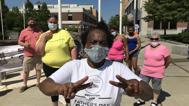 Sharon Baker, of Brockton, is the founder of the Father's Day Walk for Peace, which would have taken place for the second year in a row on Sunday, June 21, 2020, but instead was scaled back to a small gathering outside City Hall due to the coronavirus pandemic.