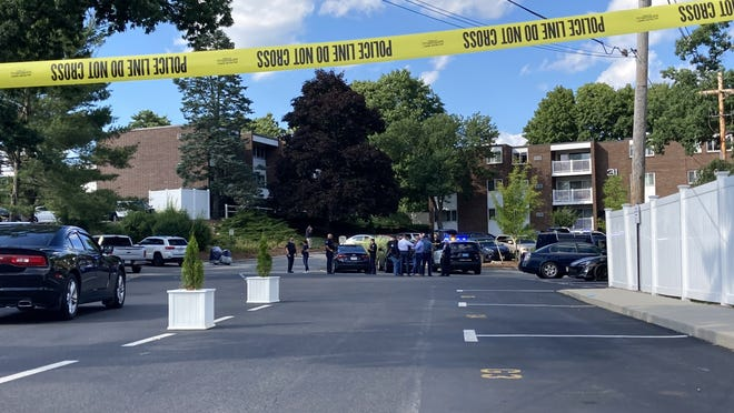 Stoughton police responded to 31 Jones Terrace, inside the Walnut Park Condominiums, for a shooting, Tuesday, July 21, 2020. A victim, who was taken by ambulance to a Brockton hospital, has died from his injuries.