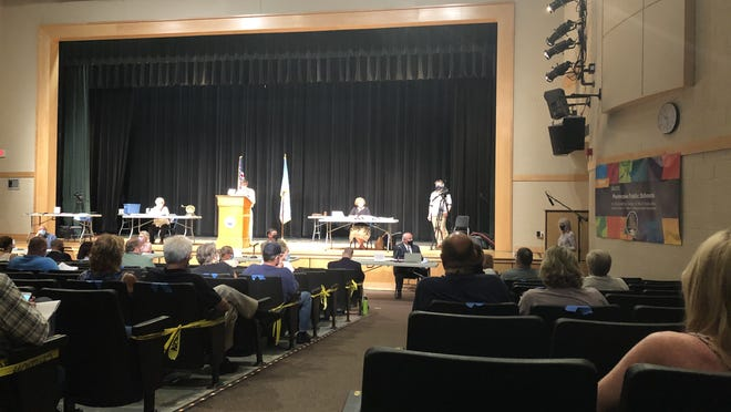 Pembrke holds it annual town meeting, July 28, 2020, in the high school auditorium.