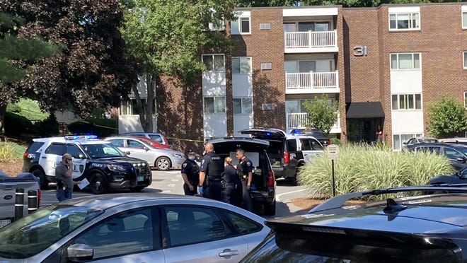 Stoughton police responded to 31 Jones Terrace, inside the Walnut Park Condominiums, for a reported shooting, Tuesday, July 21, 2020. A victim was taken by ambulance to Good Samaritan Medical Center in Brockton.