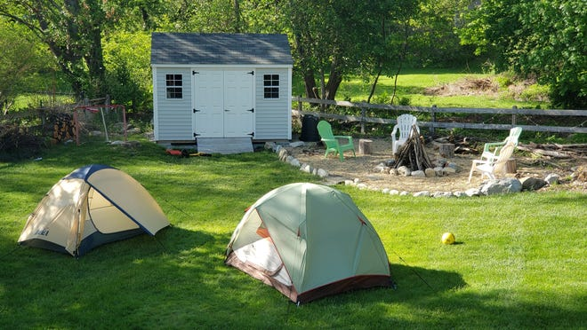 The community is invited to campout in their backyards or livings rooms for the Great A/B Backyard Campout on June 19-20.