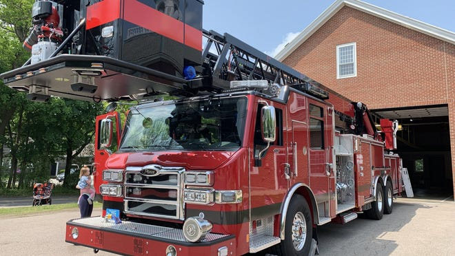 Hingham firefighters have removed several thin blue line flags from their fire trucks, after resisting the order to do so for several days. Wicked Local file photo.