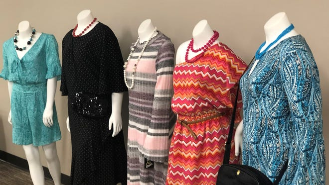 Mannequins at Old Colony Hospice & Palliative Care's West Bridgewater office show examples of clothes that will be for sale at its Threads resale boutique at Belmont Street in Brockton.