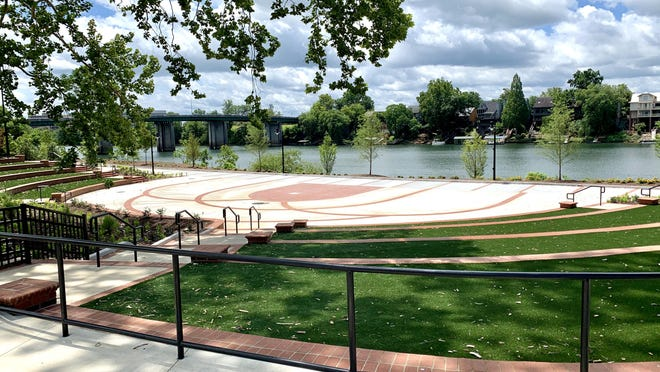North Augusta's new Riverside Village amphitheater seats 600 residents and will host a variety of functions from concerts to farmers markets.