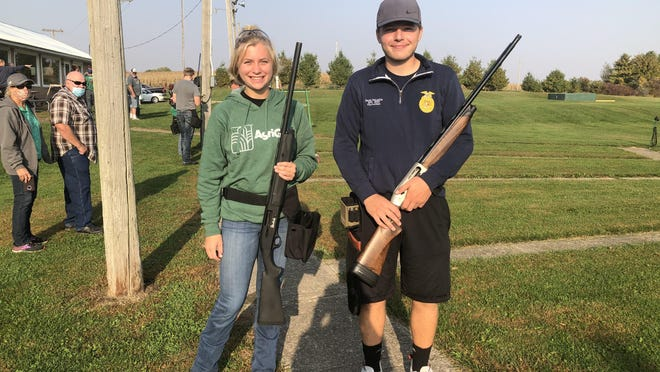 West Carroll FFA members Olivia Charles and Jacob McLuckie participated in the Section No. 1 FFA Trapshooting Career Development Event held Oct. 10.