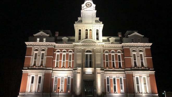 The Henry County Courthouse in Cambridge.