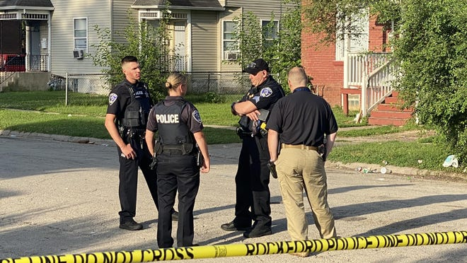 Rockford police investigate after two people were shot on Saturday on South Third Street near Pope Street. A 19-year-old man was killed and an 18-year-old man suffered injuries that are not life-threatening.
