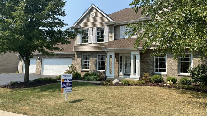 A home for sale on Wednesday on the 5200 block of Solitude Drive in Rockford.