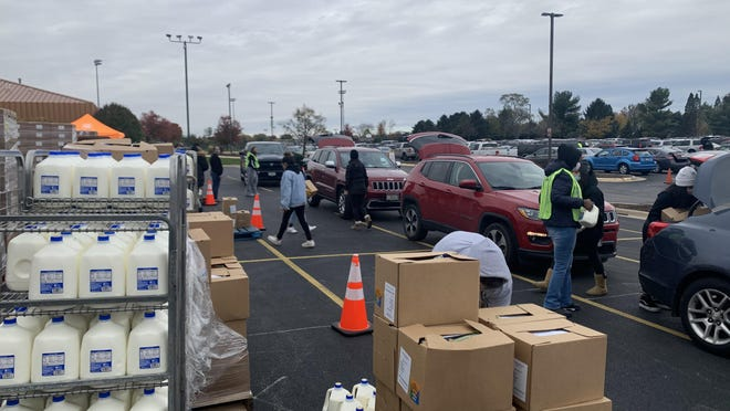 City First Church hosts a food distribution event Tuesday to help residents in need.