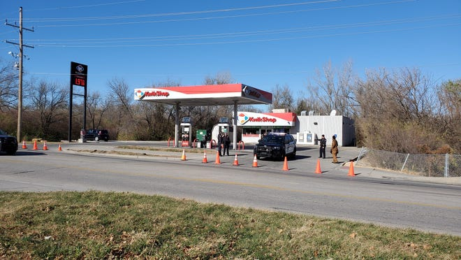 Shots were fired near the Kwik Shop on S.E. 37th and Humboldt shortly before 11 a.m. Sunday.