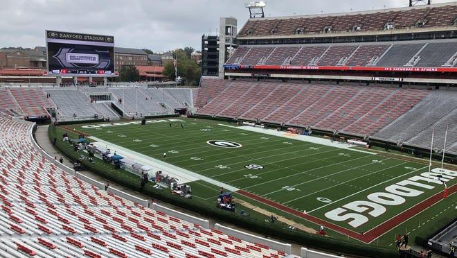 Sanford Stadium on Saturday Oct. 10 before Georgia-Tennessee game. (Marc Weiszer/Staff).