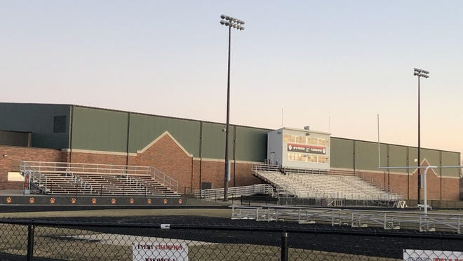 Football fields, like this one at the Byron High School, could remain empty this fall, depending on what happens with the spread of COVID-19, the disease caused by the novel coronavirus.