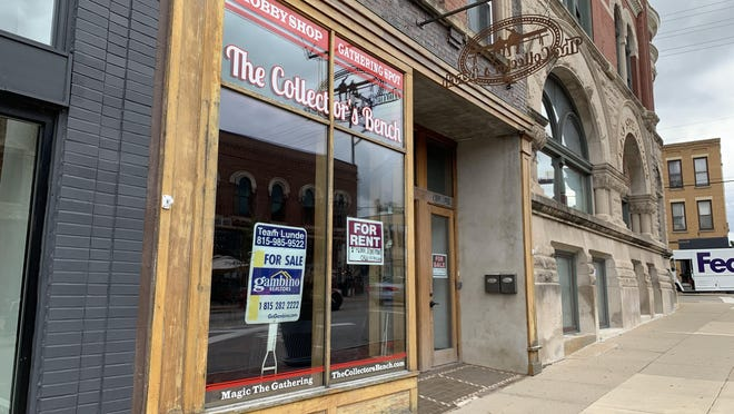 The retail shop formerly known as The Collector's Bench, located at 218 E. State Street, is now for sale for $295,000.