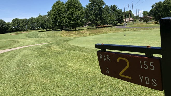 A look down the fairway on hole No. 2 at Soangetaha Country Club, as seen Thursday, June 25. The Galesburg Men's All-City will wrap up play at the golf course Sunday.