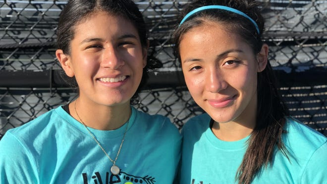 Galesburg High School's Camellia (left) and Juniper Schwartzman recently wrapped up their first and only season as girls tennis doubles partners.