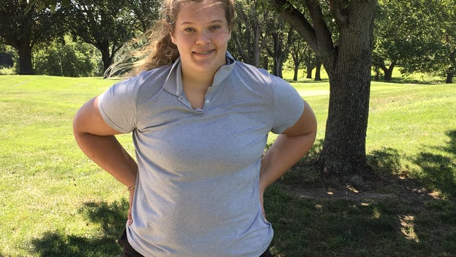 Washburn Rural sophomore Avery Scott won Monday's Manhattan Invitational golf tournament in a scorecard playoff with teammate Mallory Nelson, shooting an 85.