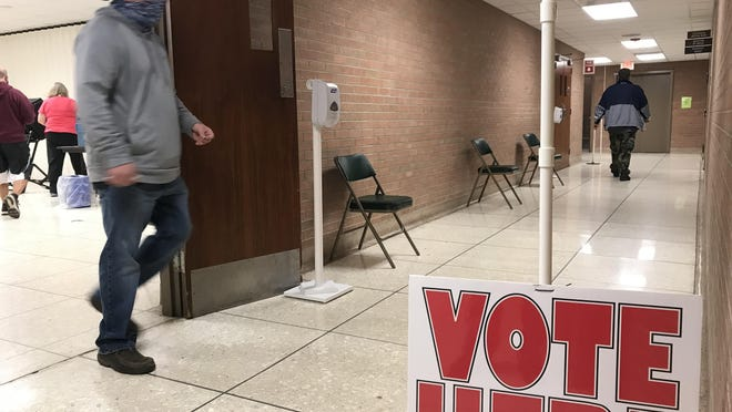 In Harvey County, about 40% of registered voters had voted using either early voting or mail voting by Monday morning.