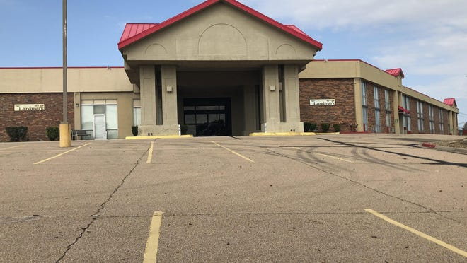 Flywheel Fairlawn, LLC, owes the city of Topeka $30,534.53 in unpaid utility bills for this former hotel property at 605 S.W. Fairlawn Road, city officials say. The  mayor and city council plan Tuesday to consider shifting that amount to the property tax bill for that property.