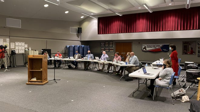 Seaman Board of Education met Monday night during a special board meeting session to discuss a plan for bringing middle school and high school students back for in-person classes.