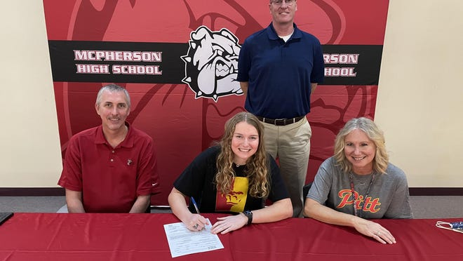 McPherson senior Grace Pyle signed to continue her basketball career at Pittsburg State on Wednesday.