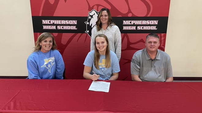 McPherson senior Katie Berg signed to continue her volleyball career at Long Island State University on Wednesday.