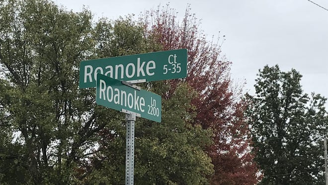 On Monday, police were investigating a death on Roanoke Court.