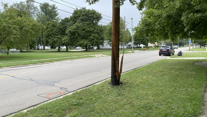A crash Monday night into this utility pole happened after a driver had a medical emergency, Tecumseh police said. The driver died, and power was cut to almost 2,000 people while a Consumers Energy crew repaired a damaged cross arm on the pole.
