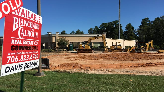 Ground has been cleared at 3131 Washington Road for the Take 5 Oil Change service center expected to open in December.