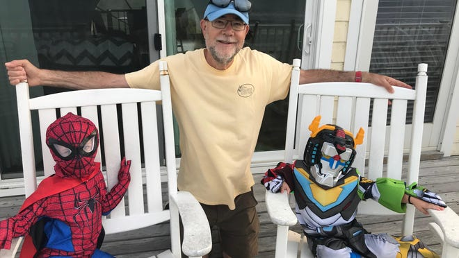 Gazette columnist Bill Poteat has enjoyed a week at the beach with his grandsons, Diego and Nolan and their alter egos, Spider-man and Voltron.