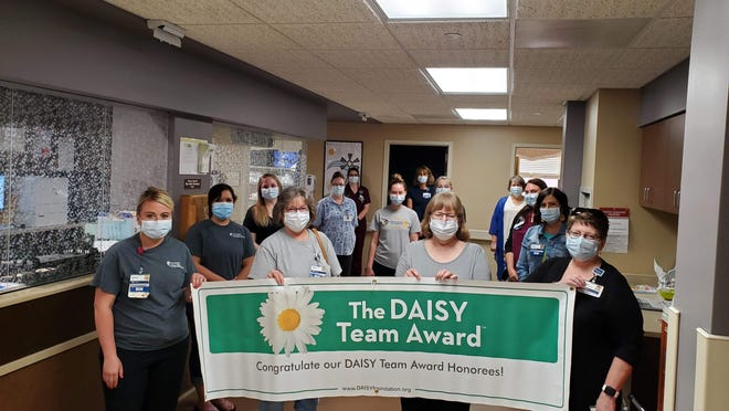 The Women/Infant Care Unit at HaysMed was recently recognized with the Daisy Team Award.