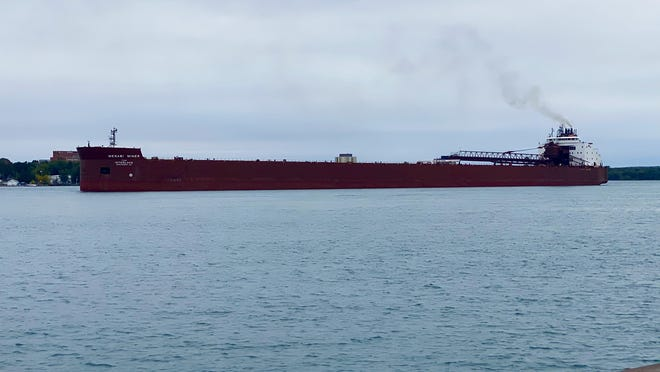 The Mesabi Miner, as pictured on the St. Mary's River on the morning of Sept. 15.