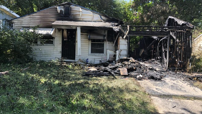 A fire early Saturday morning destroyed this house at 3109 S.E. DuPont.
