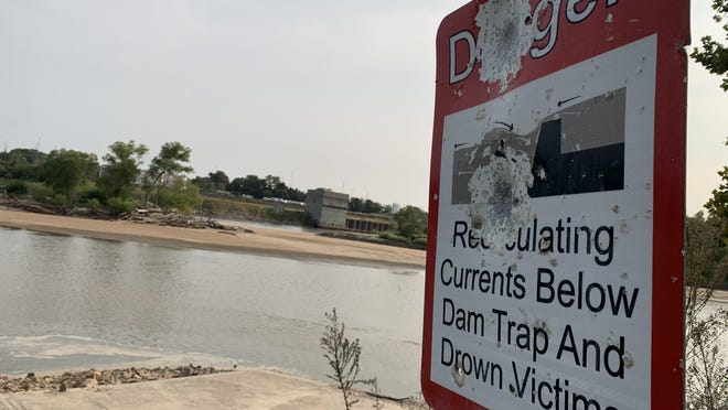 """Kayakers say Topeka's river weir creates a """"washing-machine effect"""" that can be dangerous for boaters to pass over. Construction on the weir, which should fix that problem, is set to begin Monday."""