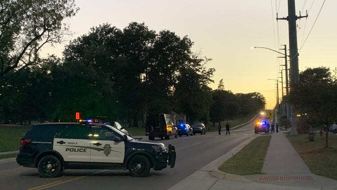 Topeka police blocked off a stretch of S.W. 6th Avenue late Tuesday while investigating a situation in which an explosive detonated inside a vehicle at Chalet Apartments, 4140 S.W. 6th Ave.