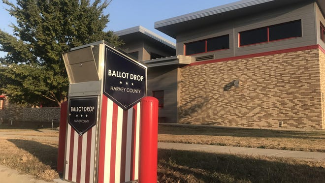 Most counties have opted to purchase ballot drop boxes, like the one pictured here in Newt. But what the user experience is like varies wildly across the state