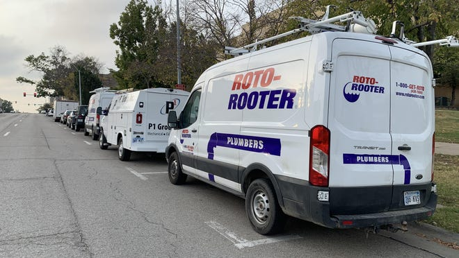 Plumbers have gathered outside city council meetings for weeks, with some voicing their displeasure with hastily passed amendments at previous meetings.