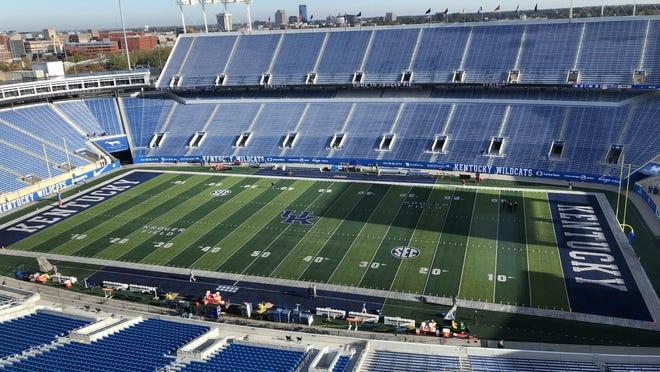 Kroger Field on Oct. 31, 2020 before the Georgia-Kentucky football game. (Marc Weiszer/Staff).