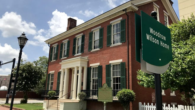 The boyhood home of President Woodrow Wilson at the intersection of 7th and Telfair Streets in Augusta, Ga., Monday afternoon June 29, 2020.