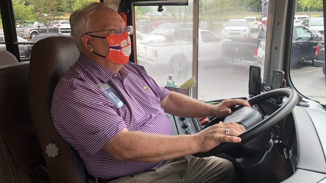 Columbia County School bus driver Ron Carmichael will be required to wear a face masks when driving children to school every day.