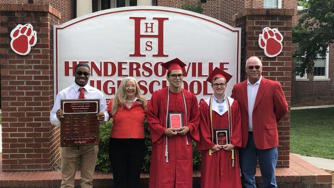 (From left) Sidney Brown- 2019 recipient, Brenda Sparks McCleerey, Angel Castillo, Jack Carr, and Jim Sparks.