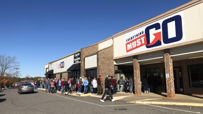 This Star file photo shows people lining up when the store first opened in Shelby