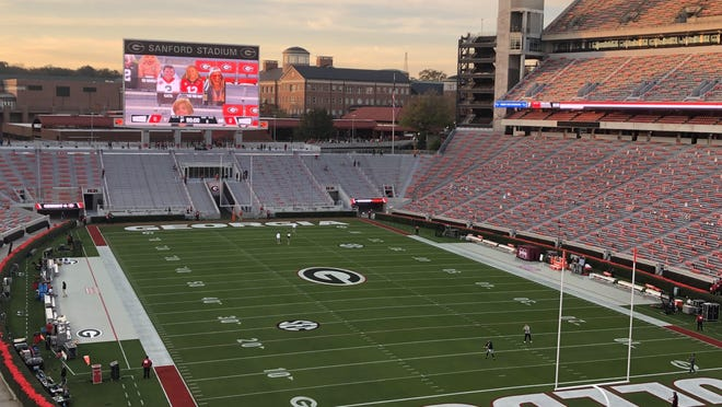 Sanford Stadium before UGA-Mississippi State on Saturday Nov. 21, 2020 (Marc Weiszer/Staff).