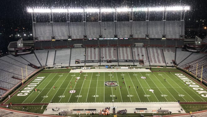 Williams-Brice Stadium in Columbia, S.C., before the Georgia-South Carolina game on Nov. 29, 2020. (Marc Weiszer/Staff).