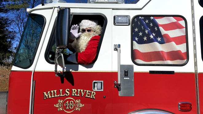 Santa is coming to Mills River Saturday, Dec. 12 for a fire truck tour.