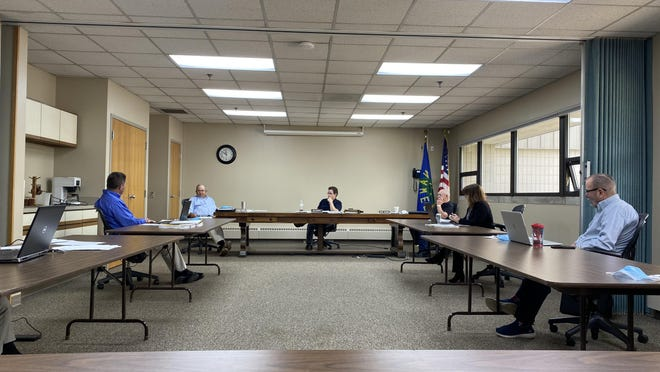 The Lenawee County Road Commission is seen during a meeting Thursday, June 4, 2020.