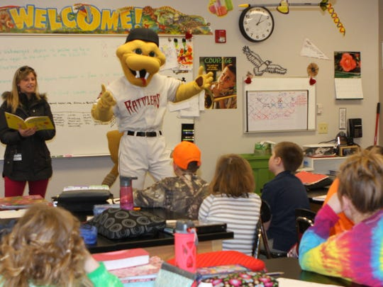 New Hope Christian School received a visit from Timber Rattlers mascot Fang to kick off the Fang Reading Program. Students will enjoy a day at the baseball stadium to celebrate the accomplishments of their additional reading efforts.