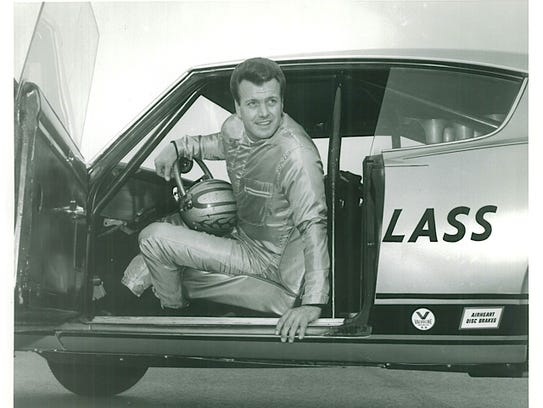 Bob Riggle is shown in 1967 in the famous drag car,